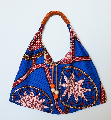 Free pattern: Wax print hobo bag