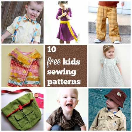 10 free kids sewing patterns – Sewing
