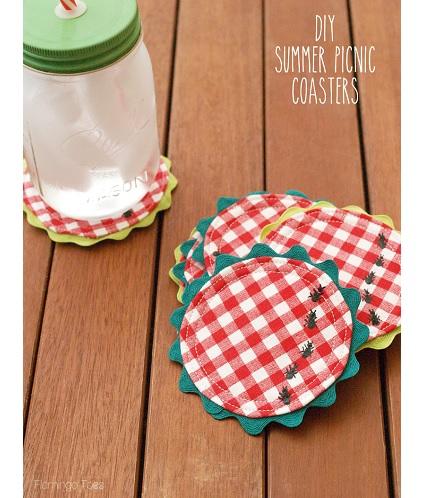 Tutorial: Summer picnic coasters