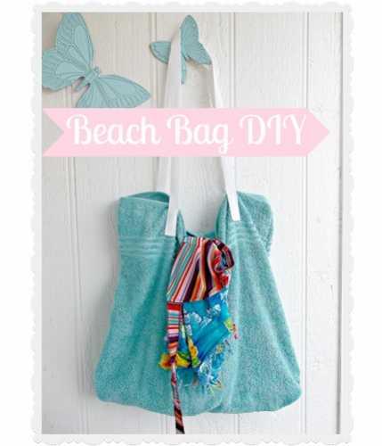 Tutorial: Easy towel beach bag