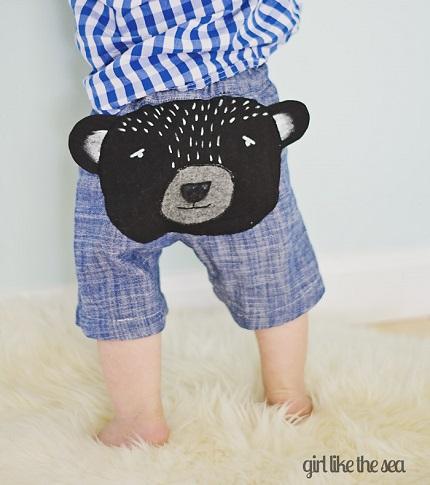 Tutorial: Bear Butt Baby Shorts
