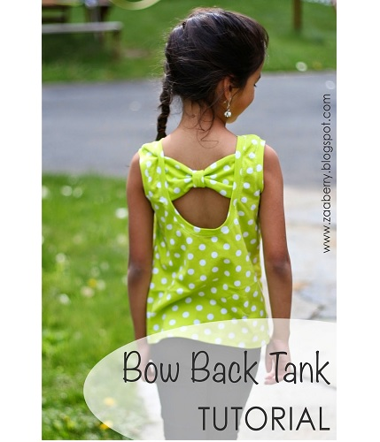Tutorial: Bow back tank top