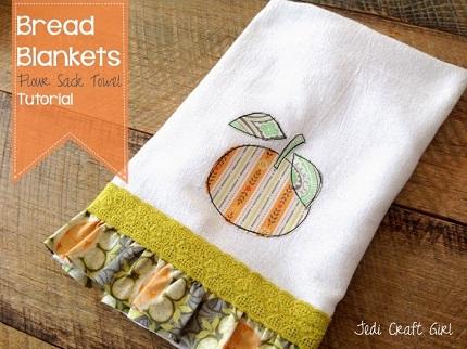 Tutorial: Bread Blanket embellished flour sack towels