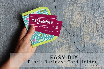 Tutorial: Easy business card wallet