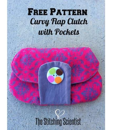 Free pattern: Curvy Flap Clutch