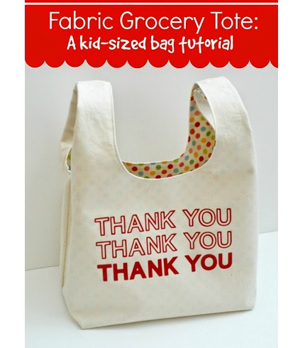 Tutorial: Kid-sized fabric grocery sack for playing store