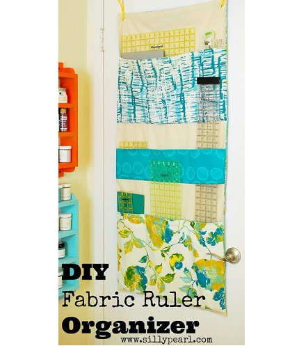Tutorial: DIY fabric ruler organizer