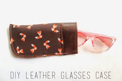 Tutorial Easy Leather And Fabric Glasses Case Sewing