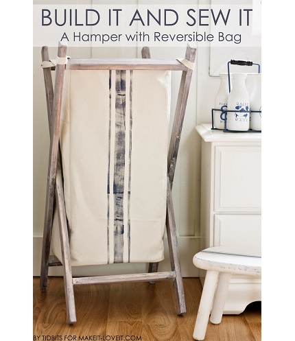 Tutorial: Foldable wood laundry hamper with removable fabric bag