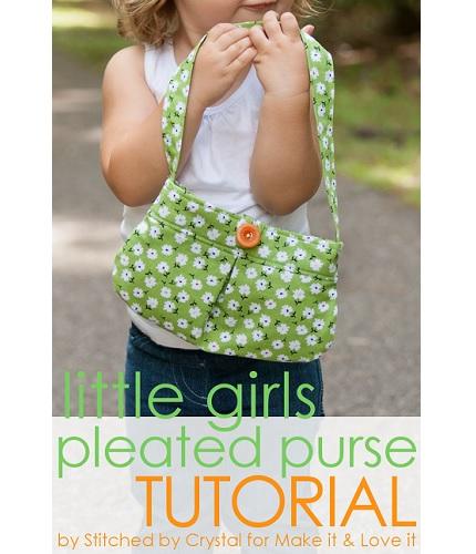 Tutorial: Little girl's pleated purse