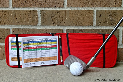 Tutorial: Golf score card wallet for Father's Day
