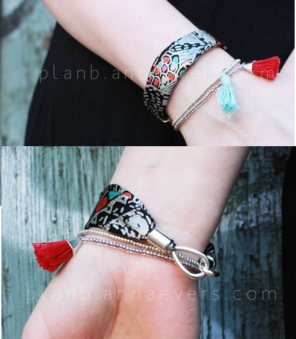 Tutorial: Easy fabric scrap bracelet