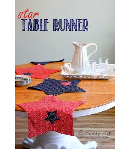Tutorial: 4th of July star table runner and placemats