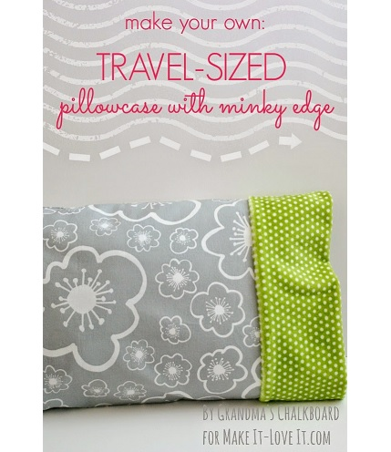Tutorial: Travel pillowcase with a minky edge