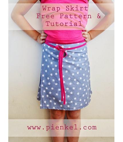 Free pattern: Girl's wrap skirt