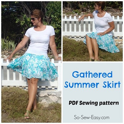Free pattern: Gathered Summer Skirt