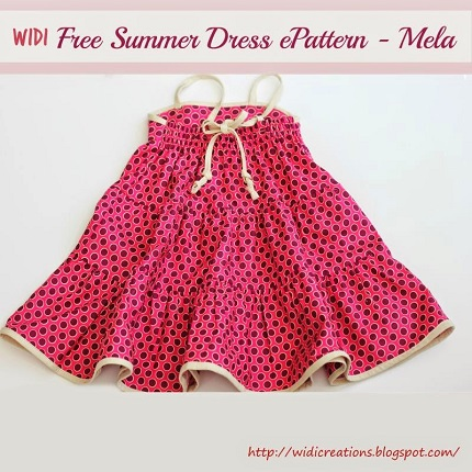 Free pattern: Little girl's tiered sundress