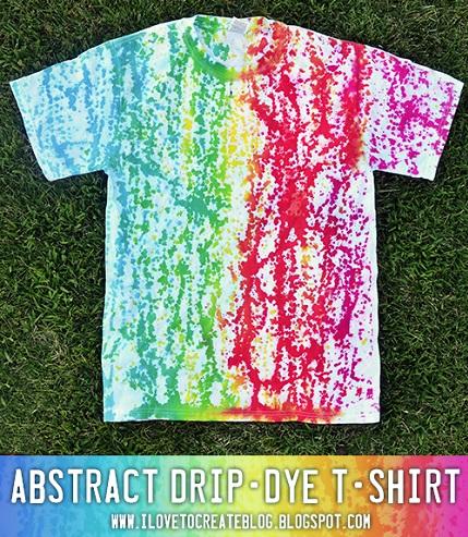 Tutorial: Abstract drip dye t-shirt