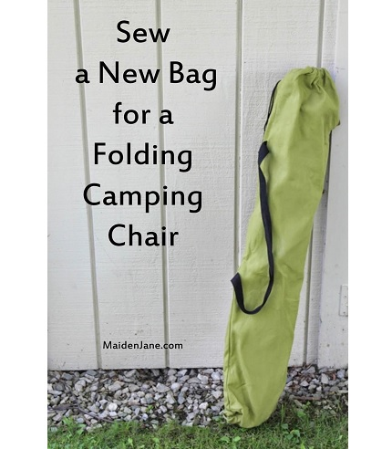 Tutorial: Make a new bag for a folding camp chair
