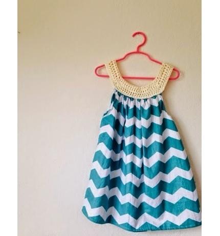 Tutorial: Crochet yoke sundress for a little girl