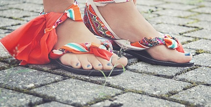 Tutorial: Fabric wrapped flip flops