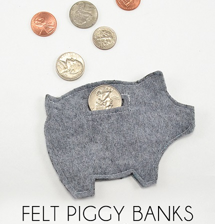 Tutorial: Felt piggy bank
