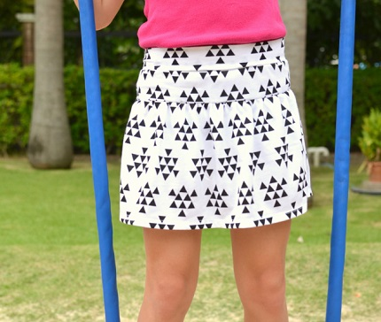 Free pattern: Girl\'s Monkey Bar Skirt with built in shorts – Sewing