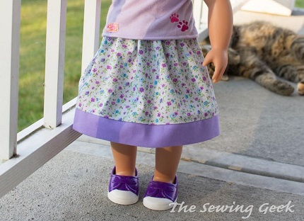 "Free pattern: Moo Skirt for 18"" dolls"