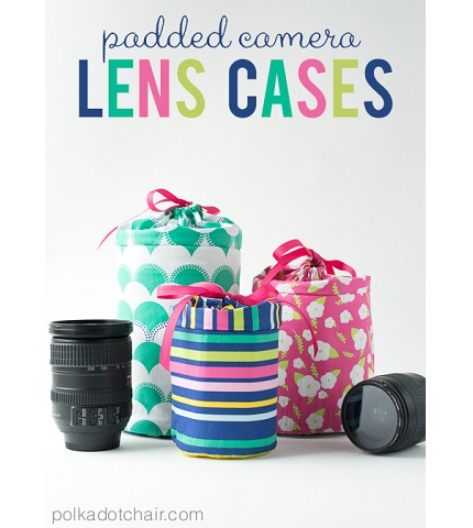 Tutorial: Padded camera lens cases
