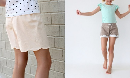 Tutorial: Scalloped and lined kid shorts