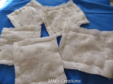 Tutorial: Net curtain scrubby washcloths