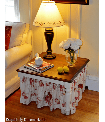 Tutorial: Simple table skirt for an end table