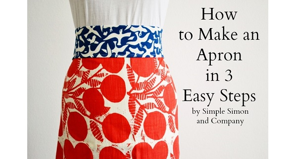 Video tutorial: 3 steps to make an apron
