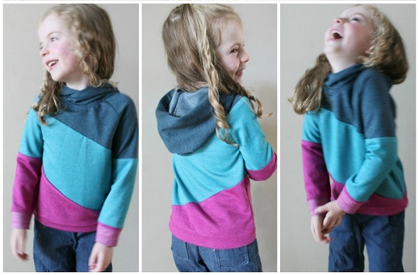 Tutorial: Diagonal color blocked hoodie