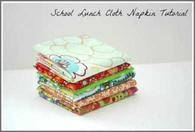 DIY kids reusable napkins