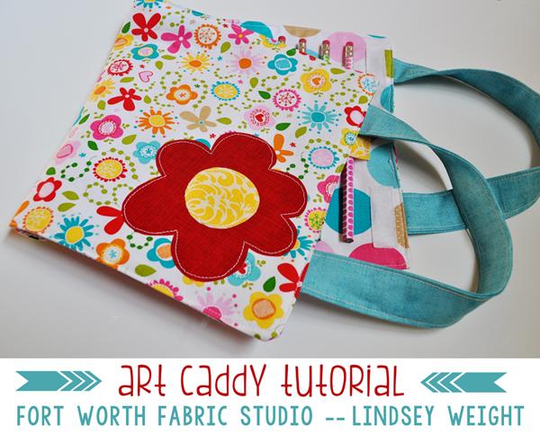 Tutorial: Kids art caddy – Sewing
