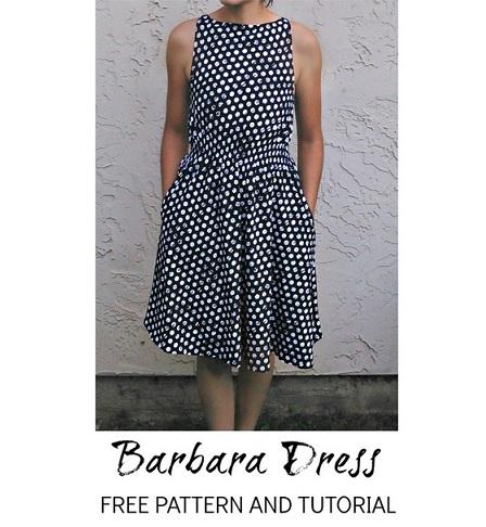 Free pattern: Retro inspired Barbara dress