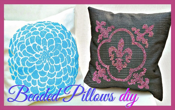 Tutorial: Beaded throw pillows, with no actual beading required