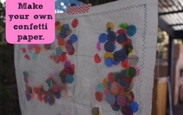 Tutorial: Confetti wrapping paper