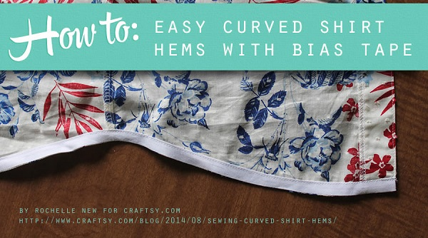 Tutorial: Use bias tape to sew curved hems