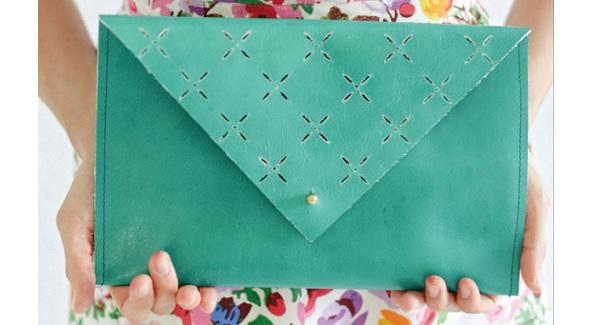 Tutorial: Leather cut out clutch purse