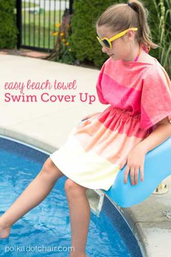 Tutorial: Easy beach towel swimsuit cover up