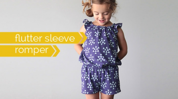 Free pattern: Little girl's flutter sleeve romper