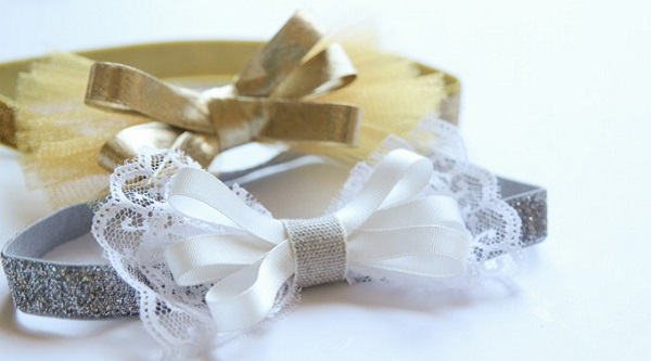 Tutorial: Easy glitter bow headbands