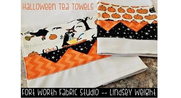 Tutorial: Halloween tea towels