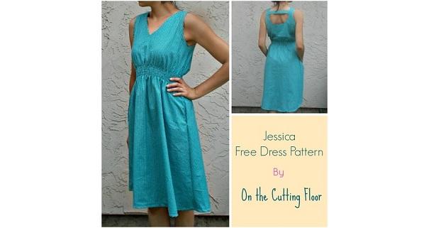 Tutorial: Jessica sleeveless V-neck dress