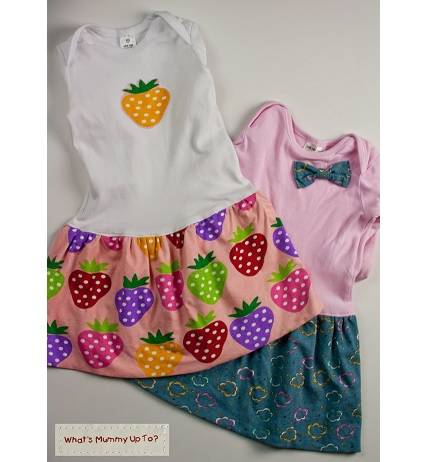 Tutorial: Toddler bubble dresses from outgrown onesies