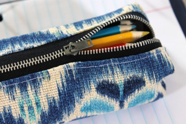 Tutorial: Back to school boxy pencil pouch