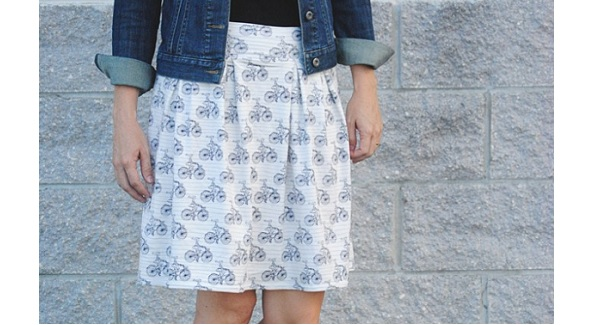 Tutorial: Easy pleated knit skirt