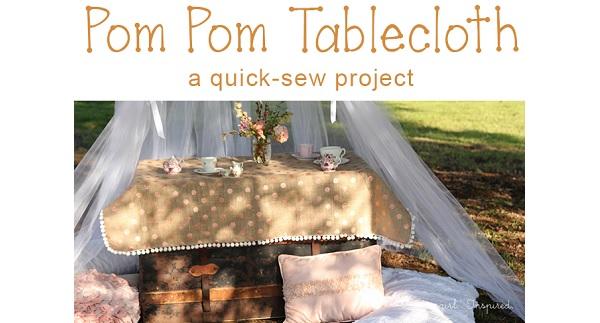 Tutorial: Easy pom pom tablecloth